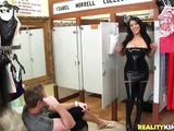 latina milf and her new uniform