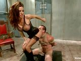 luscious mistress dominating her guy