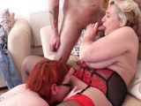 bbw milfs team up for a hard dick