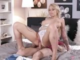 blonde busty milf gets fucked hard